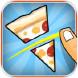 切成两半:披萨